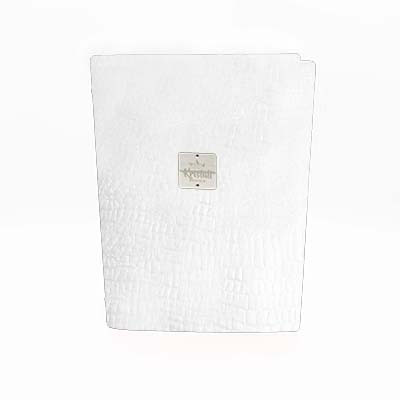White Croco Recycled leder