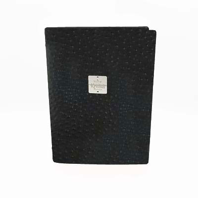 Black Ostrich Recycled leder